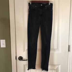 Joes Tilda high rise skinny jeans black raw ankle